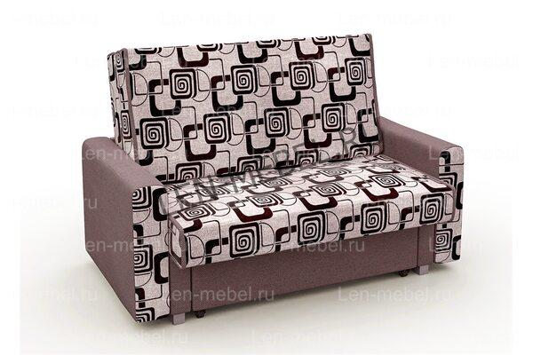Выкатной диван Рогожка квадраты бежевый