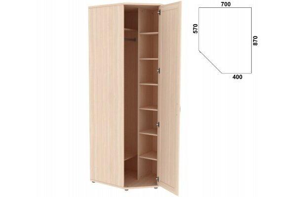 Несимметричный угловой шкаф с зеркалом 537.02