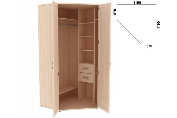 Шкаф угловой с зеркалами 534.02