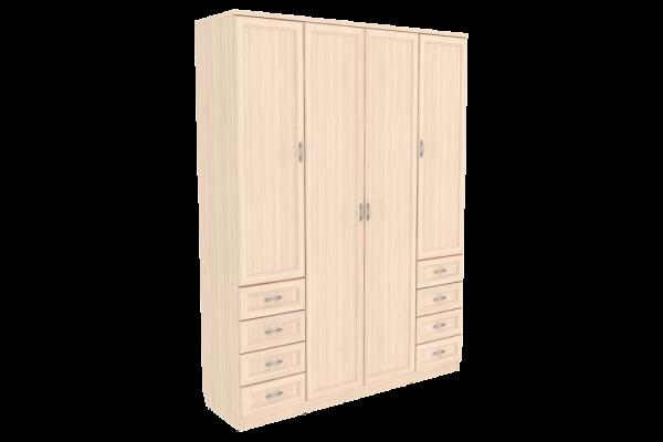 Шкаф для белья со штангой, полками и ящиками арт. 112