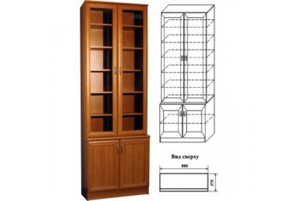 Шкаф для книг 06