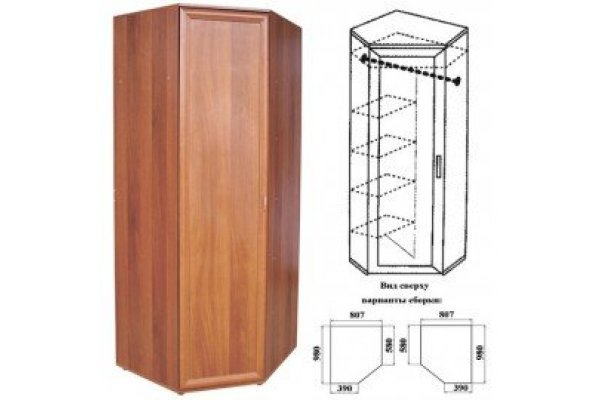 Шкаф угловой 05 разнобокий