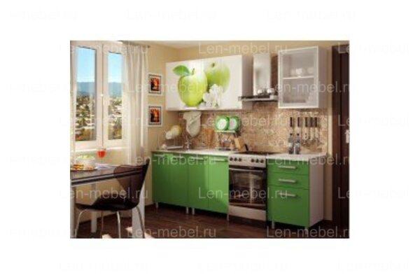 Кухня с фотопечатью «Яблоко»