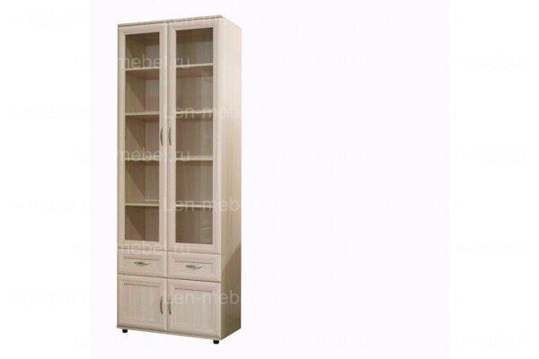 Шкаф двухстворчатый со стеклянными дверцами 169