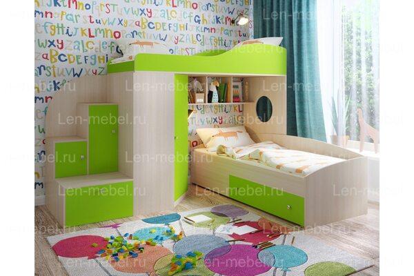 Угловая двухъярусная кровать Кадет-2