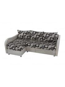 Угловой диван Рогожка квадрат бежевый
