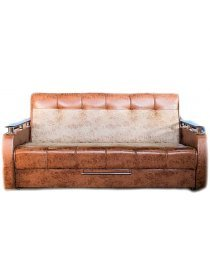Диван-кровать Валентина замша коричневая